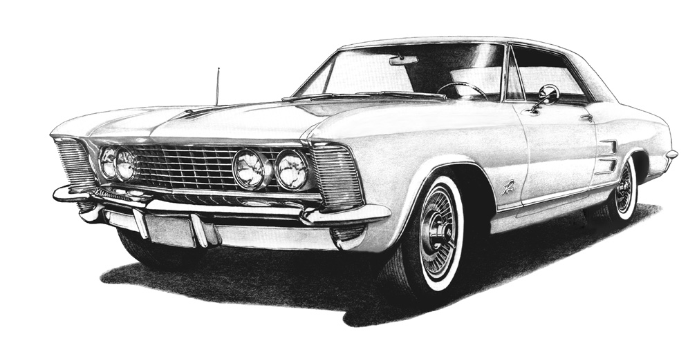 1963 Buick Riviera Drawing